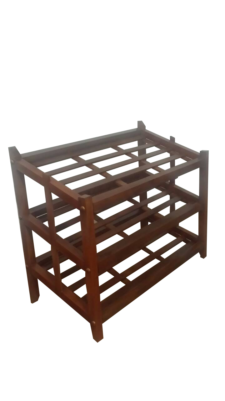 Mahogany shoe rack