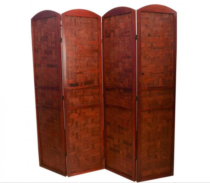 red bamboo room divider