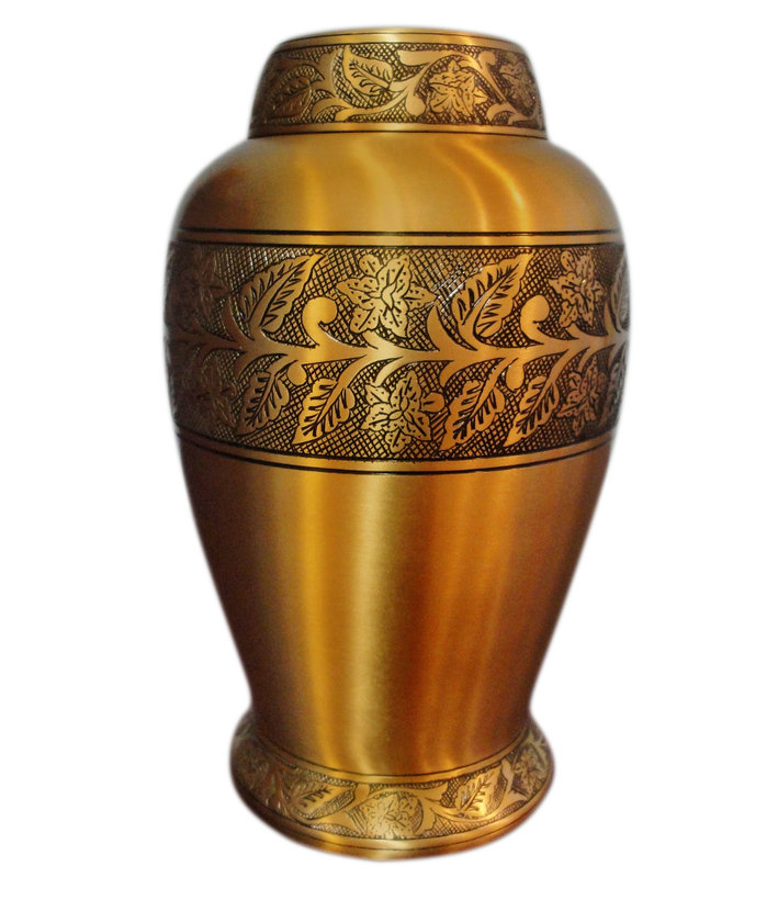 Soulful Peace Brass Cremation Urn Adult