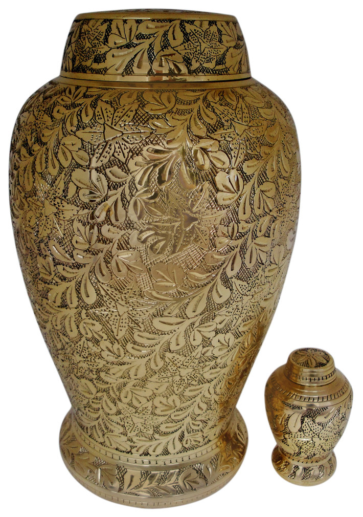 Pleasant_Solace_Brass_cremation_urn_set