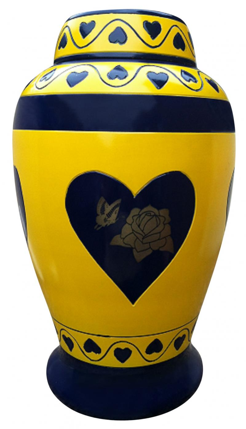 rose butterfly urn